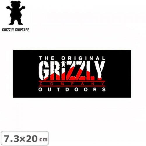 【グリズリー GRIZZLY ステッカー】STAMP LOGO STICKER ブラック 7.3cm×20cm NO38