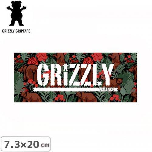 【グリズリー GRIZZLY ステッカー】STAMP LOGO STICKER ローズ 7.3cm×20cm NO39
