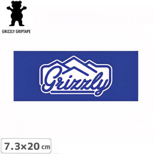 【グリズリー GRIZZLY ステッカー】STAMP LOGO STICKER ブルー 7.3cm×20cm NO40