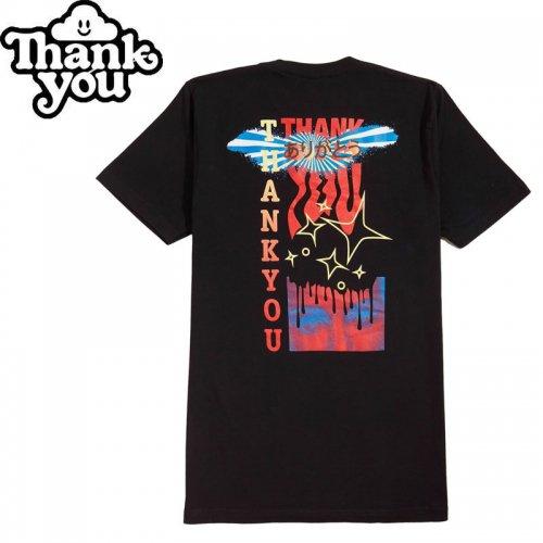【THANK YOU サンキュー スケボー Tシャツ】FLY TEE【ブラック】NO8