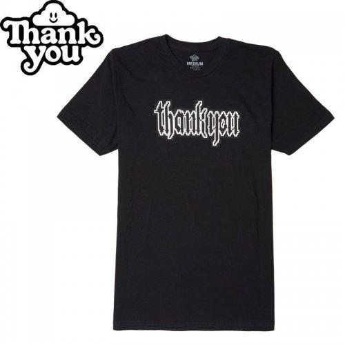 【THANK YOU サンキュー スケボー Tシャツ】GOTHIC SPRITE TEE【ブラック】NO9