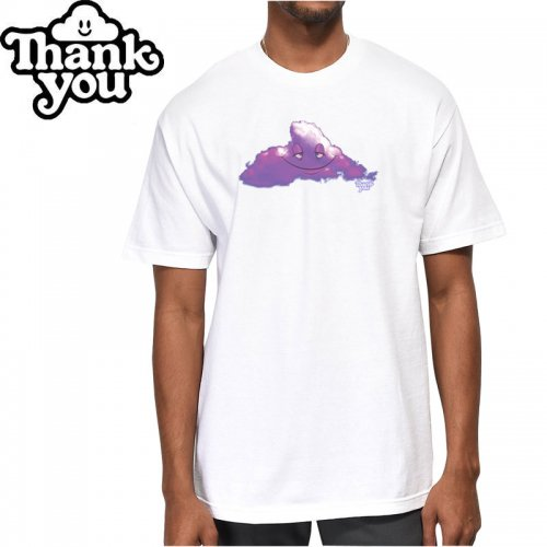 【THANK YOU サンキュー スケボー Tシャツ】HEAD IN THE PURPLE RAIN CLOUDS TEE【ホワイト】NO10