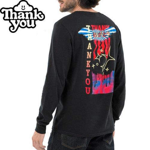 【THANK YOU サンキュー スケボー ロング Tシャツ】FLY L/S TEE【ブラック】NO1