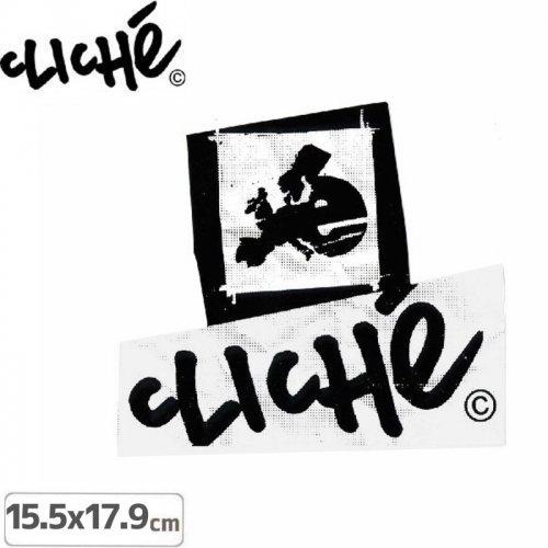 【CLICHE クリシェ ステッカー】OG LOGO STICKER【17.9cm x 15.5cm】NO3
