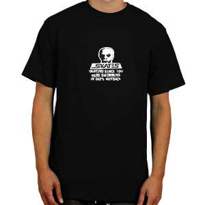 【SKULL SKATES スカルスケーツ ハードコア Tシャツ】DADS NUTSACK【ブラック】NO6