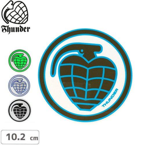 【サンダー トラック THUNDER スケボー ステッカー】CIRCLE GRENADE【10.2cm】NO6