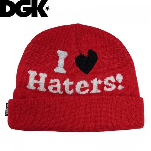 【ディージーケー DGK スケボー ニットキャップ】ビーニー 帽子 Haters Beanie【レッド】NO06
