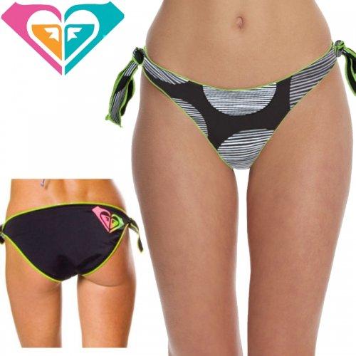 【ロキシー ROXY 水着】Follow the Sun Retro Tie Side Reversible Bikini Bottom【ブラック】No22