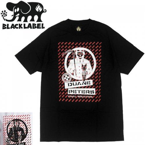 【BLACK LABEL ブラックレーベル スケボー Tシャツ】DP FINAL SOLUTION TEE【ブラック ホワイト】NO14