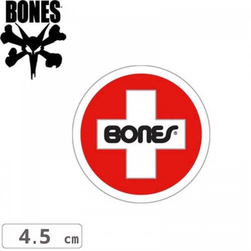 【ボーンズ BONES スケボー ステッカー】 SWISS CIRCLE STICKER【4.5cm x 4.5cm】NO9