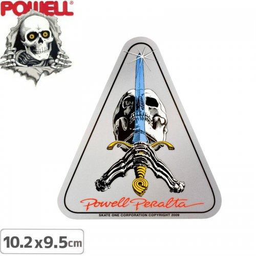 【パウエル POWELL スケボー ステッカー】SKULL AND SWORD【10.2cm×9.5cm】NO11