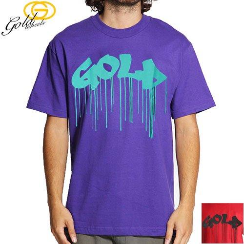【GOLD WHEELS ゴールド ウィール スケボー Tシャツ】CANDY PAINT TEE【レッド】【パープル】NO81