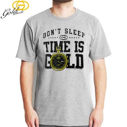 【GOLD WHEELS ゴールド スケボー Tシャツ】DONT SLEEP TEE【グレー ヘザー】NO87