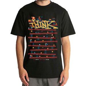 【シンク THINK スケボー Tシャツ】8 Bit【ブラック】NO03