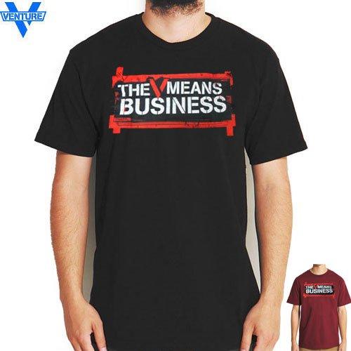 【ベンチャー VENTURE TRUCKS Tシャツ】BUSINESS TEE【ブラック】【バーガンディ】NO3