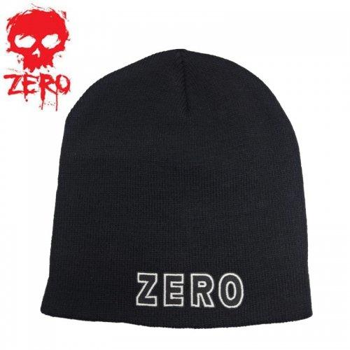 【ゼロ ZERO スケートボード ニットキャップ】Bold Beanie【ブラック】NO05