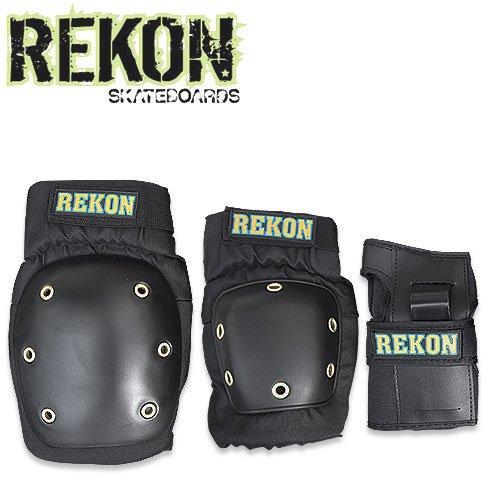 【REKON リーコン スケボー プロテクター】3 IN 1 PAD SET【プロテクターセット】NO01