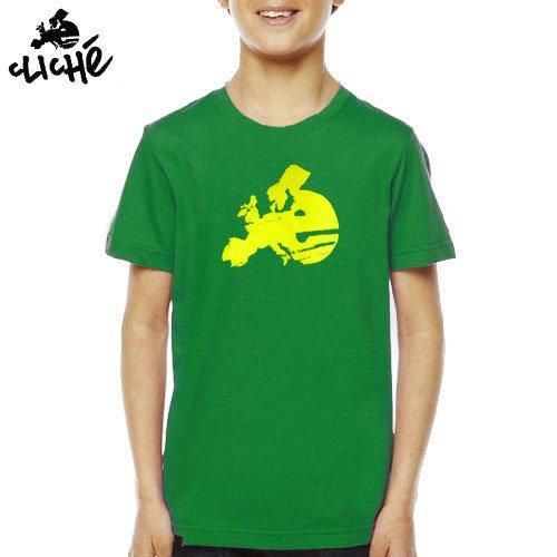 【クリシェ CLICHE キッズ Tシャツ】EUROPE OG SLIM YOUTH TEE kids 子供服【グリーン】NO1