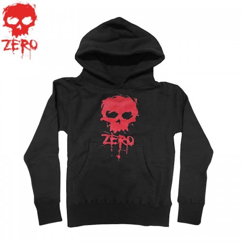 【ゼロ ZERO キッズ パーカー】Blood Skull Hood Youth【ブラック】NO2