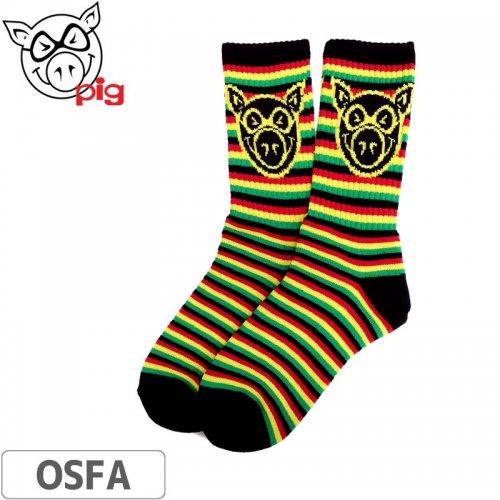 【ピッグ PIG WHEELS スケボー ソックス】Rasta Socks【ラスタ】NO03