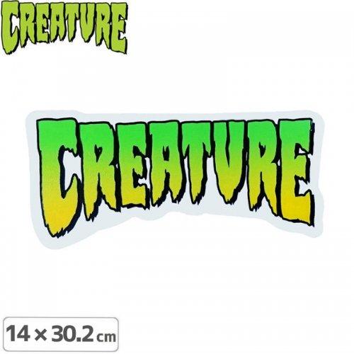 【クリーチャー CREATURE スケボー ステッカー】LOGO【14cm×30.2cm】NO09