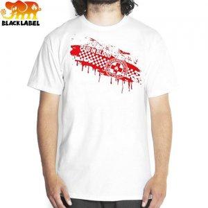 【BLACK LABEL ブラックレーベル Tシャツ スケボー】EMERGENCY BLOOD BATH TEE【ホワイト】NO26