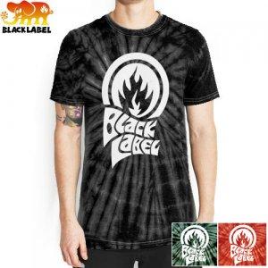 【ブラックレーベル BLACK LABEL Tシャツ】TRIP FLAME タイダイ TEE【ブラック グリーン レッド】NO32