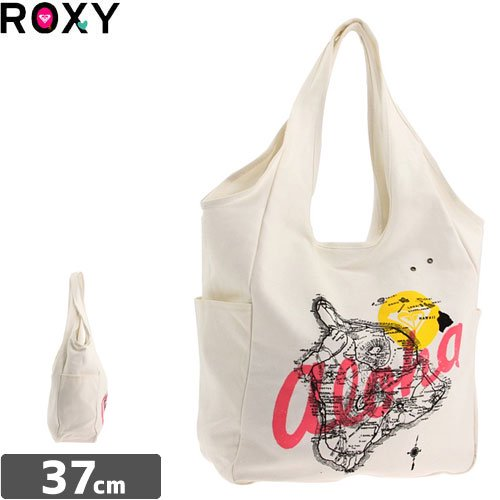 【ロキシー ROXY トートバック】BREATHLESS CANVAS TOTE BAG【ホワイト】NO16