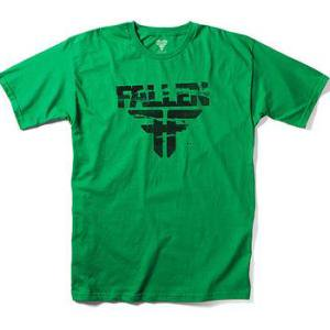 【フォールン FALLEN スケボー キッズTシャツ】Feedback Tee【グリーン】NO7