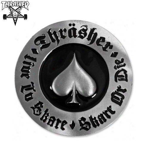 【スラッシャー THRASHER スケボー バックル】USAモデル THRASHER OATH BELT BUCKLE【シルバー】NO2