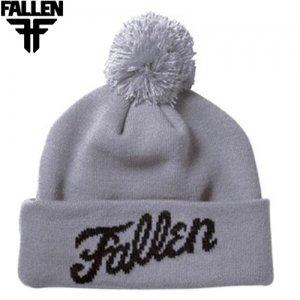【FALLEN フォールン スケートニットキャップ】Fury Beanie Fallen Fury Beanie【グレー】NO01
