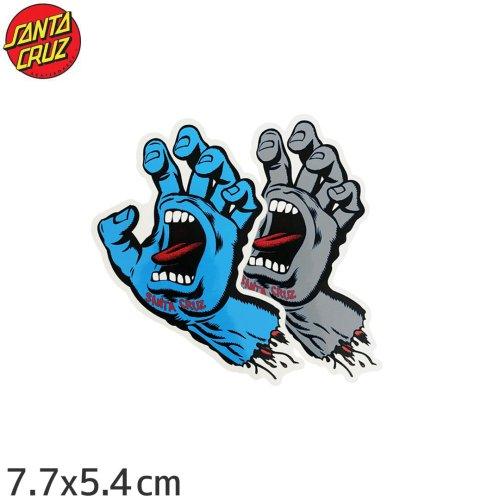 【スケボー スクリーミングハンド ステッカー サンタクルーズ SANTACRUZ】SCREAMING HAND 2色【7.7cm x 5.4cm】No24