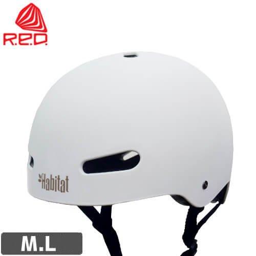 【レッド RED スケートボード用 ヘルメット】RIOT HABITAT CUSTOM HELMET【ホワイト】NO11