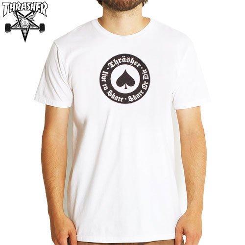 【スラッシャー THRASHER スケボー Tシャツ】(USA規格)THRASHER OATH TEE【ホワイト】NO62