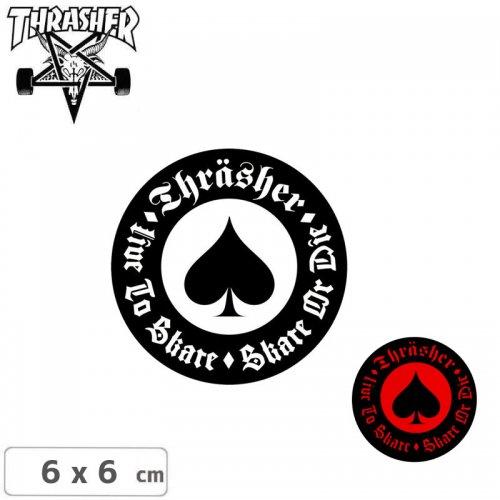 【スラッシャー THRASHER スケボー ステッカー】USA規格 OATH【2色】【6cm x 6cm】NO29