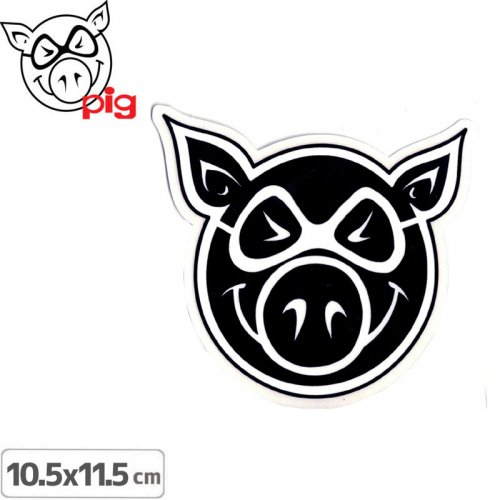 【PIG ピッグ STICKER ステッカー】LOGO【10.5cm×11.5cm】NO1
