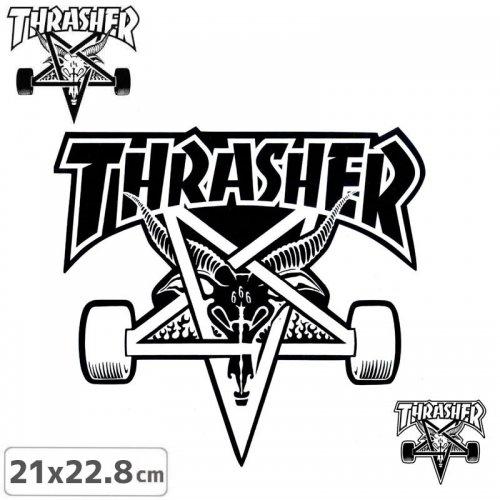 【スラッシャー THRASHER スケボー ステッカー】US規格 SK8 GOAT STICKER【2色】【21cm×22.8cm】NO35