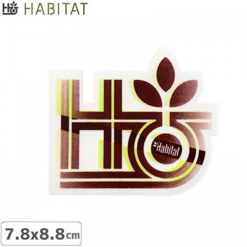 【HABITAT STICKER ハビタット ステッカー】LOGO【7.8cm x 8.8cm】NO9
