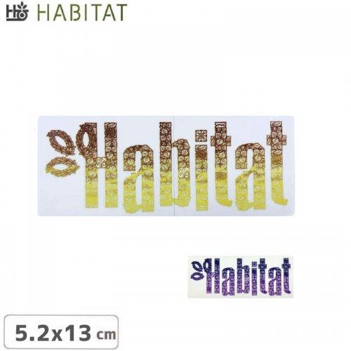 【HABITAT STICKER ハビタット ステッカー】LOGO【2色】【5.2cm x 13cm】NO16