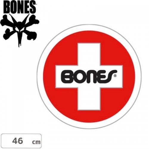 【ボーンズ BONES スケボー ステッカー】Swiss Cross Circle【46cm x 46cm】NO21