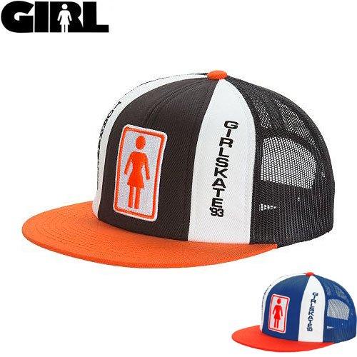 【ガール GIRL スケボー キャップ】TRI-TONE MESH CAP【ブルー】【ブラック】NO39
