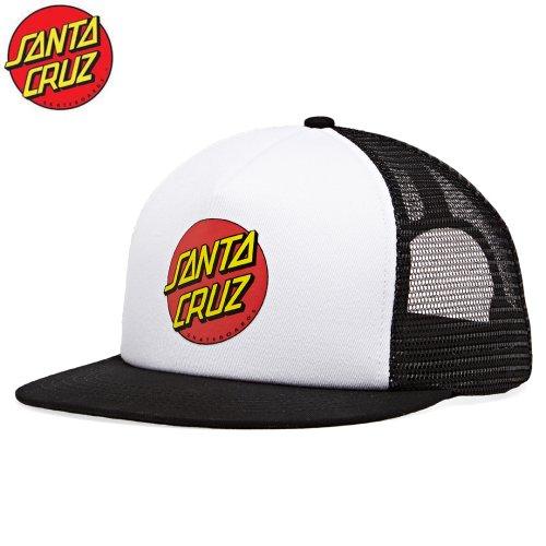 【サンタクルーズ SANTA CRUZ スケボー キャップ】CLASSIC DOT TRUCKER【ブラック x ホワイト】NO10