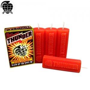 【THUNDER サンダー スケボー ワックス】THUNDER SPEED WAX【レッド】NO1