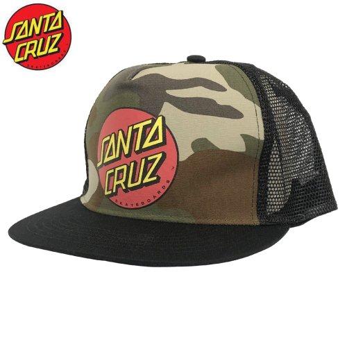 【サンタクルーズ SANTA CRUZ スケボー キャップ】CLASSIC DOT メッシュキャップ【カモ×ブラック】No13