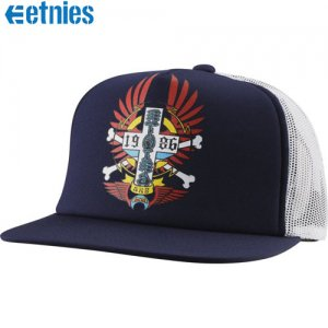 【ETNIES エトニーズ スケボー キャップ】HERITAGE TRUCKER HAT【ネイビー】NO4