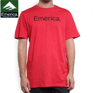 【エメリカ EMERICA スケボー Tシャツ】PURE 12 S/S TEE【レッド】NO96