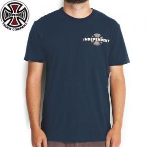 【インディペンデント INDEPENDENT Tシャツ】78 B/C CHEST ロゴ TEE 3色刷り【ハーバー ブルー】NO95