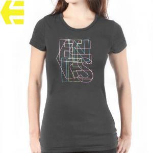 【エトニーズ ETNIES レディース Tシャツ】GIRL ON WIRE BASIC WOMENS【チャコール グレー】NO13