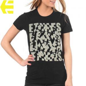 【エトニーズ ETNIES レディース Tシャツ】HYPNOTIC WOMENS【ブラック】NO17