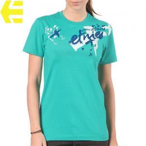 【エトニーズ ETNIES レディース Tシャツ】FLY AWAY BASIC WOMENS【グリーン】NO19